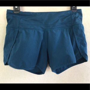 🍋EUC Lululemon Women's Teal Blue Running Shorts